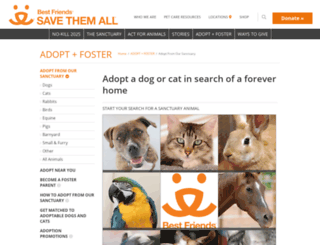 adoptions.bestfriends.org screenshot