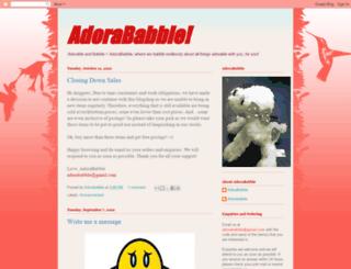 adorababble.blogspot.com screenshot