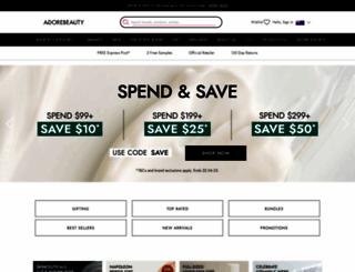 adorebeauty.com.au screenshot