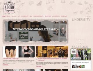 adorolingerie.com.br screenshot