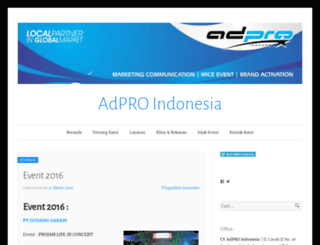 adproindonesia.wordpress.com screenshot