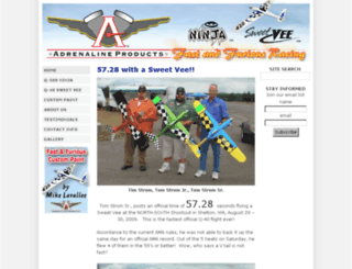 adrenaline-products.com screenshot