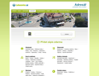 adresar.luhacovice.cz screenshot