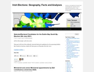 adriankavanaghelections.org screenshot