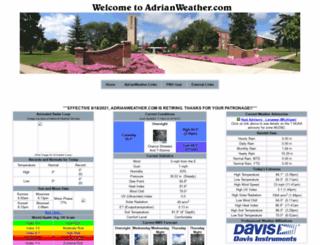 adrianweather.com screenshot