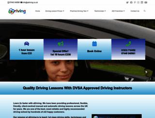 adriving.co.uk screenshot