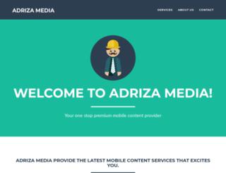 adrizamedia.com screenshot