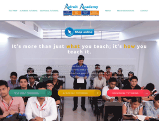 adroitacademykota.co.in screenshot