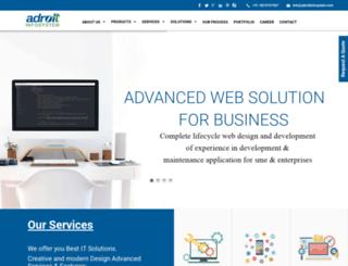 adroitinfosystem.com screenshot