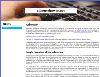 adsensehowto.net screenshot