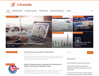 adsenzia.com screenshot