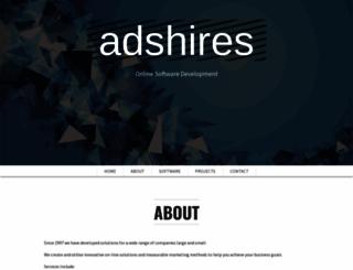 adshires.co.uk screenshot