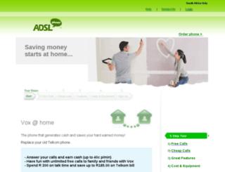 adslphone.co.za screenshot