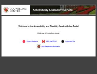 adsonline.umd.edu screenshot