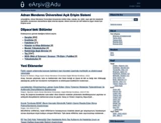 adudspace.adu.edu.tr screenshot