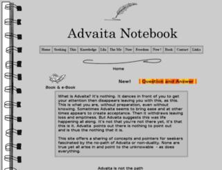 advaitanotebook.com screenshot