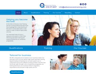 advancecaretraining.com screenshot