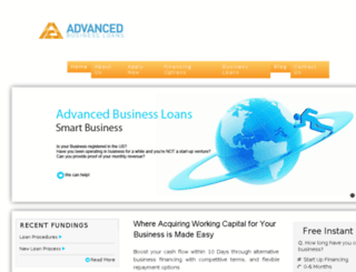 advancedbusinessloans.com screenshot