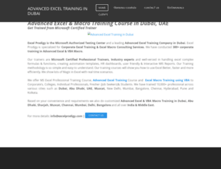 advancedexceltrainingdubai.weebly.com screenshot
