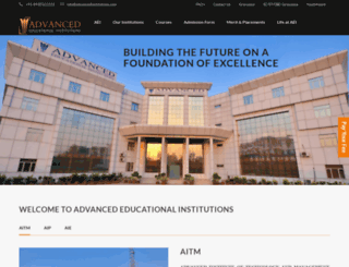 advancedinstitutions.com screenshot