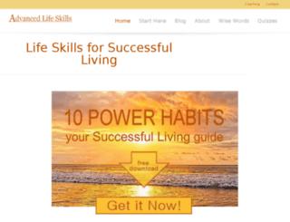 advancedlifeskills.com screenshot