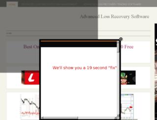 advancedlossrecoverysoftware.info screenshot
