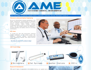 advancedmedicalengineering.com screenshot