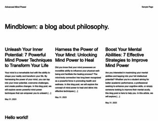 advancedmindpower.com screenshot