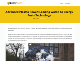 advancedplasmapower.com screenshot