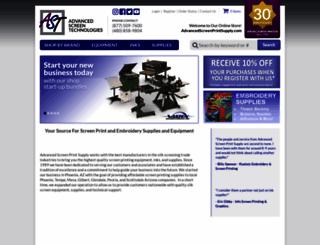 advancedscreenprintsupply.com screenshot