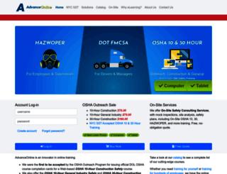 advanceonline.com screenshot