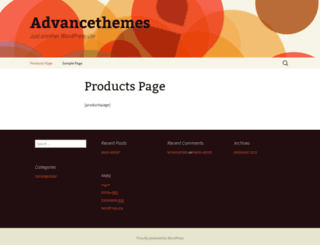advancetheme1.thestagingurl.com screenshot