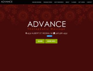 advancetherapeuticmassage.ca screenshot