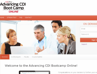 advancingcdibootcamponline.hcpro.com screenshot