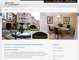 advantagecorporatehousing.com screenshot