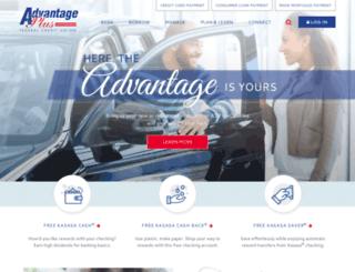 advantagepluscreditunion.com screenshot