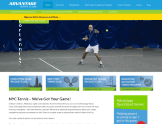 advantagetennisclubs.com screenshot