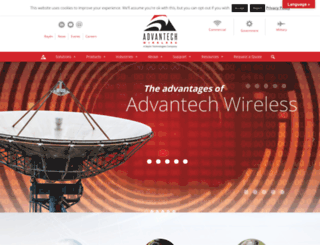 advantechwireless.com screenshot