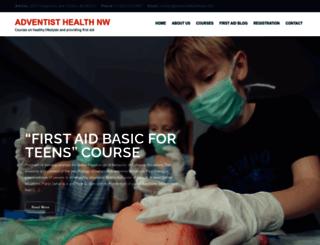 adventisthealthnw.com screenshot