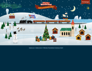 adventskalender.miniatur-wunderland.de screenshot