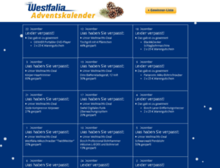adventskalender.westfalia-versand.at screenshot