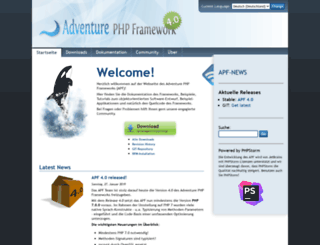 adventure-php-framework.org screenshot