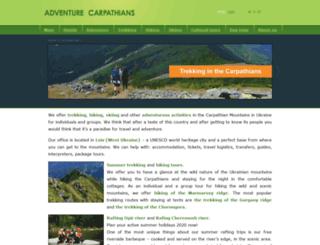 adventurecarpathians.com screenshot