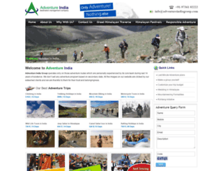 adventureindiagroup.com screenshot