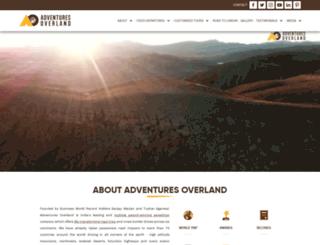 adventuresoverland.com screenshot
