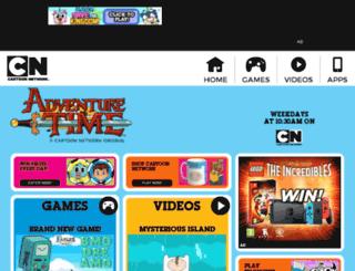 adventuretime.cartoonnetwork.co.uk screenshot