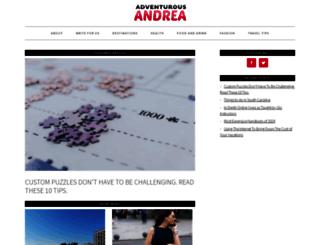 adventurousandrea.com screenshot
