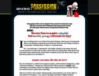 adversepossession.com screenshot