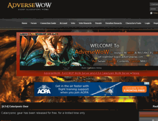adversewow.com screenshot