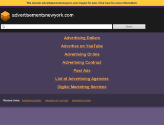 advertisementsnewyork.com screenshot